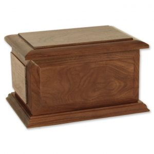 Walnut wood memorial urn