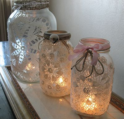 Old-Fashioned Lacy Luminaries