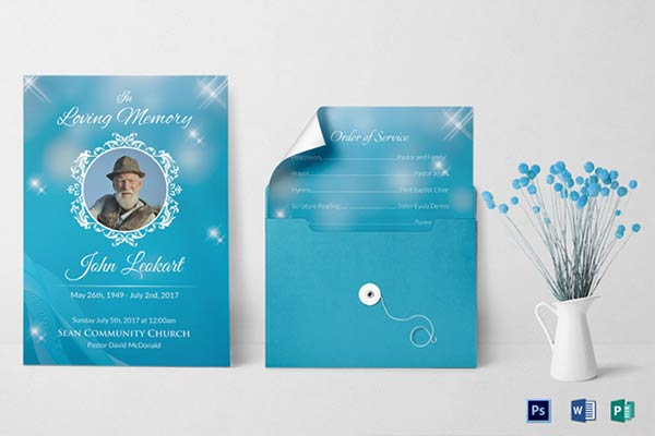 Memorial Service Invitation and Template