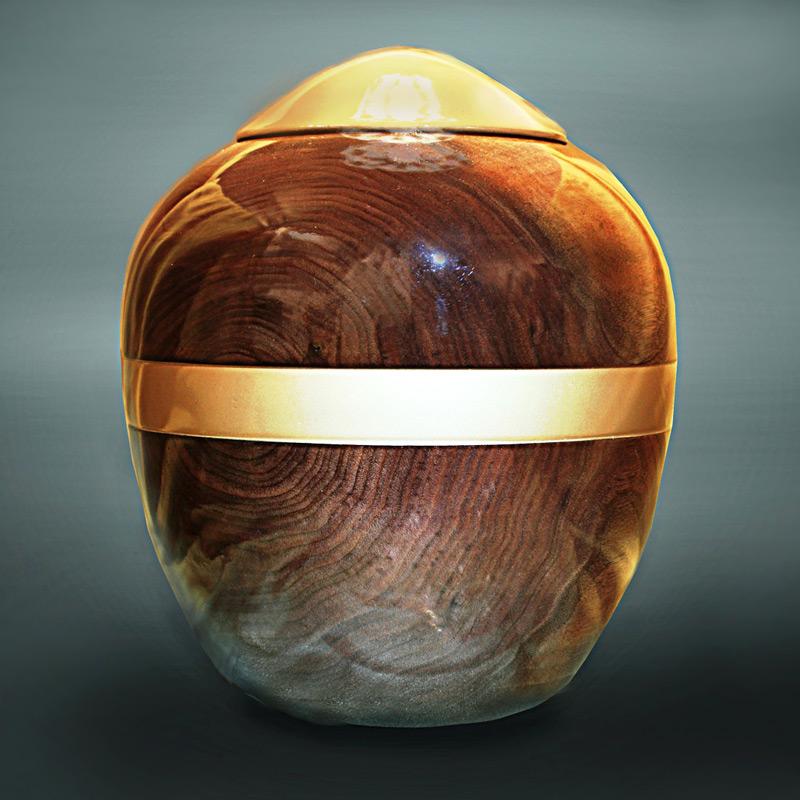 "Dark Walnut ""Elegance"" Companion Urn"