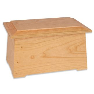 Natural Cherry Wooden Cremation Urn