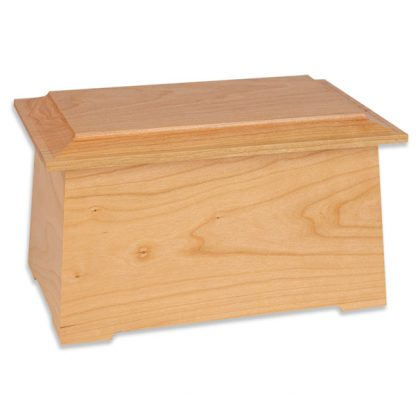 Natural Cherry Wooden Cremation Urn