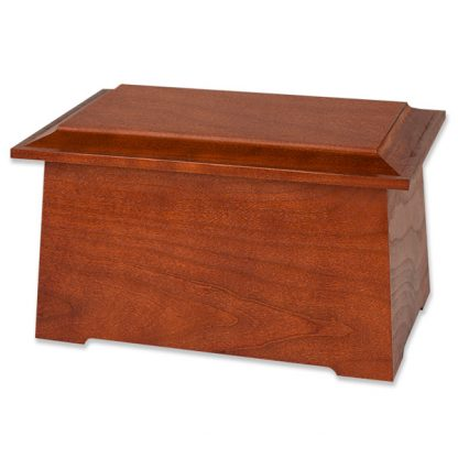 Stained Cherry Wooden Cremation Urn