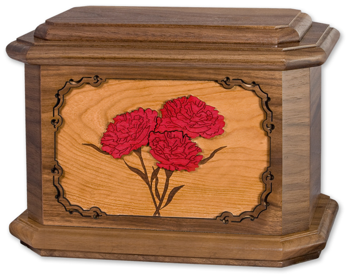 Wooden Urns with Floral Art