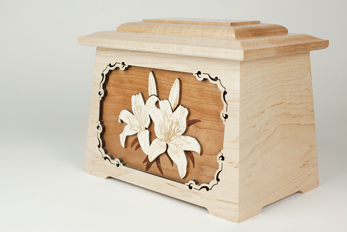 Maple Urn Made in the USA