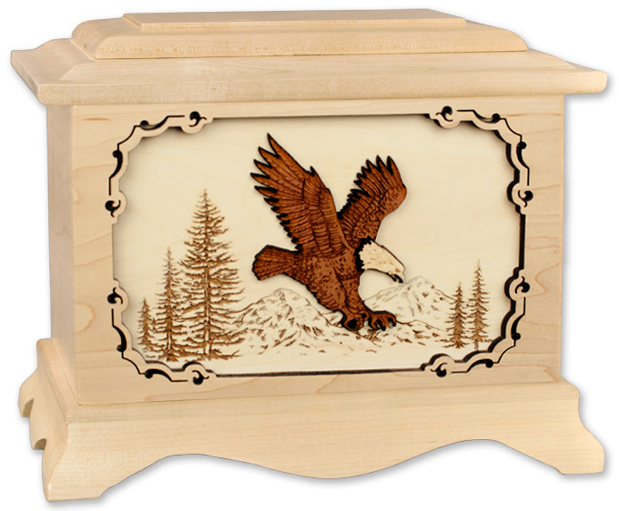 Maple Cremation Urn made in the USA
