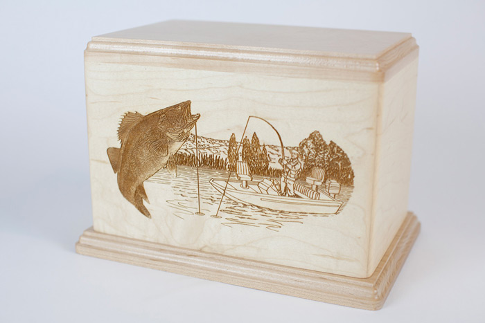 Maple Wood Walleye Urn