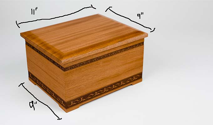 Cremation Urn Sizing Info