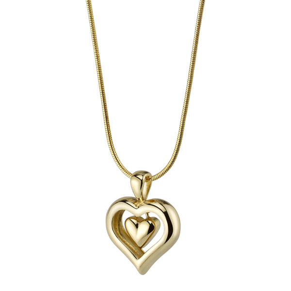 Heart Cremation Ash Necklace with Matching Chain