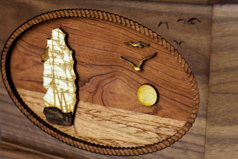 Old fashioned sailing ship memorial