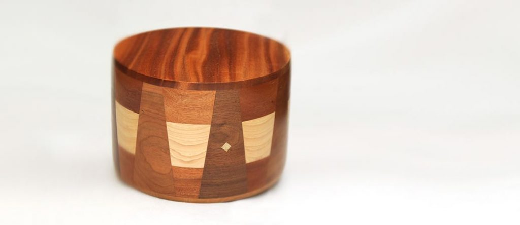 Round Wood Cremation Urns