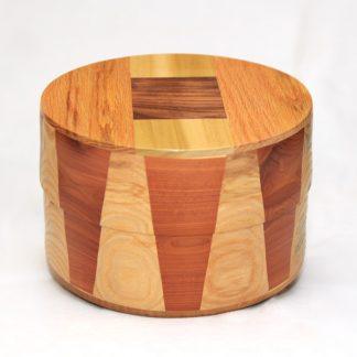 Circular Wood Cremation Urns