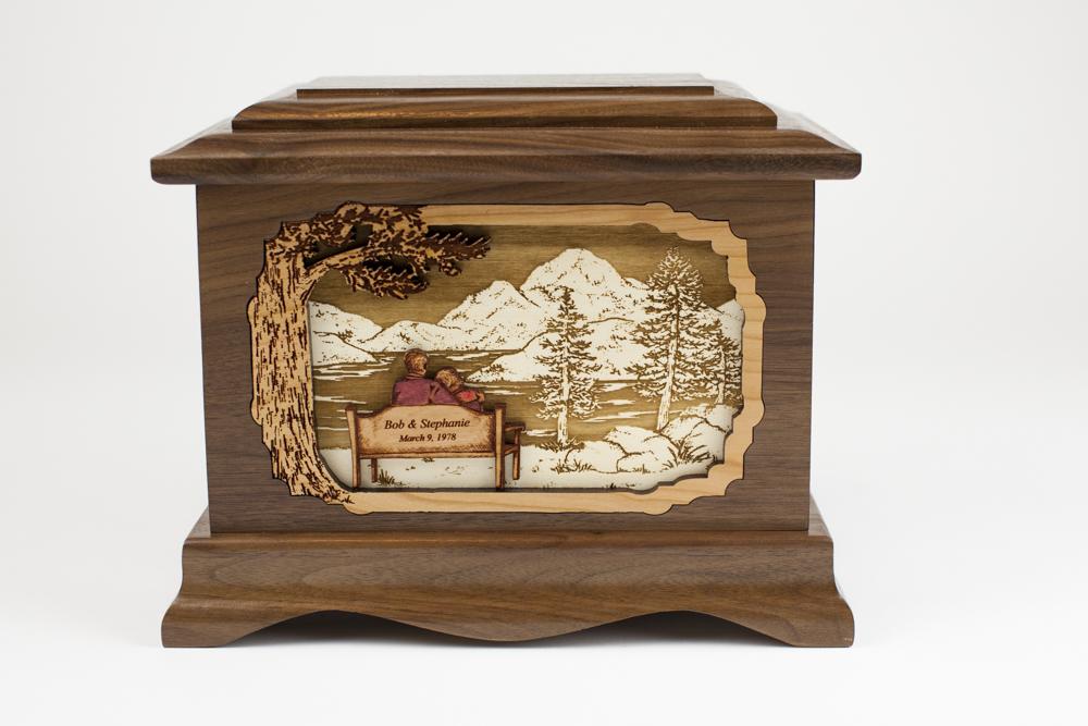 An elegant memorial urn