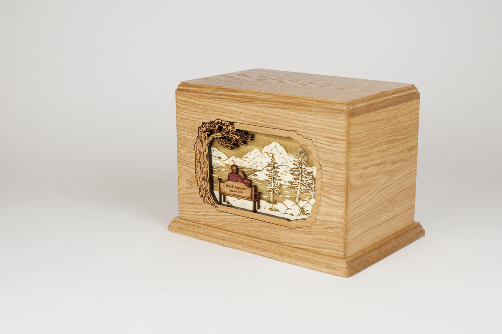 Inlay Art Cremation Urn for Two People