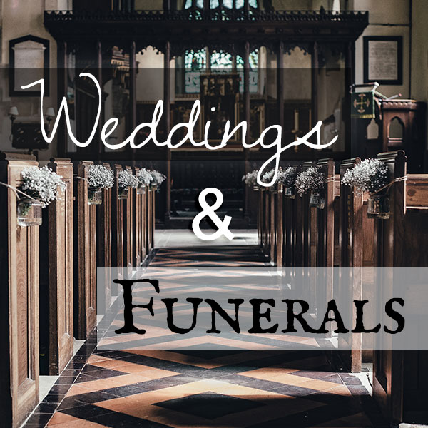 Weddings and Funerals: How they are surprisingly similar