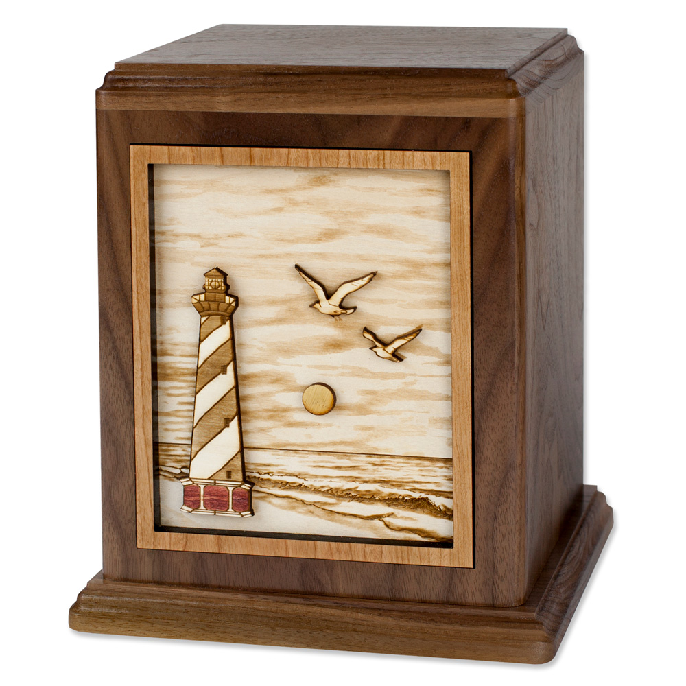 Wood Lighthouse Cremation Urn - Cape Hatteras Lighthouse