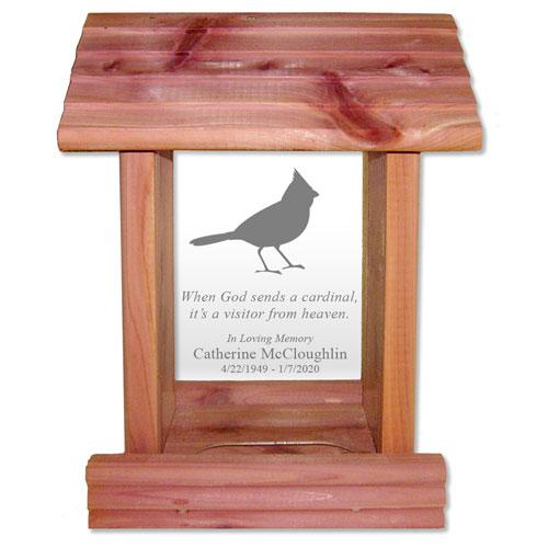 When God Sends a Cardinal Sympathy Bird Feeder Gift