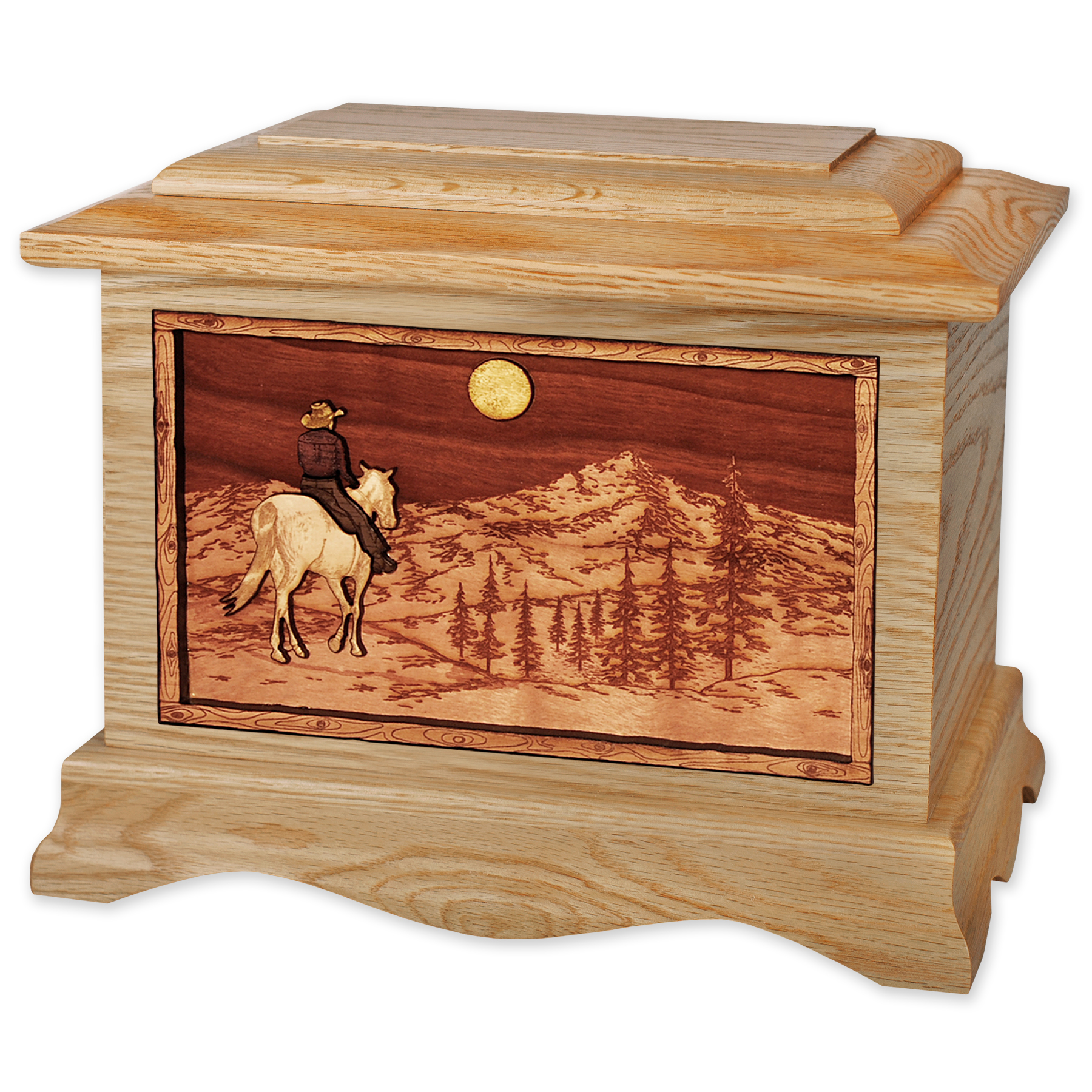Cowboy & Horse Cremation Urn