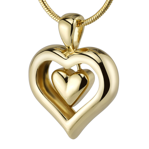 Cremation Jewelry Heart necklace