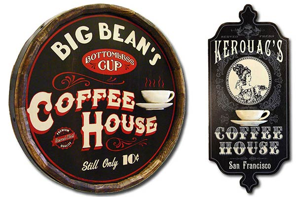 Personalized Coffee House Signs