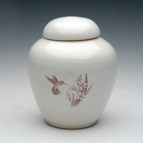 Hummingbird Ceramic Funeral Urn