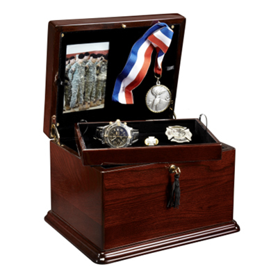 Chippendale Memory Chest & Keepsake Urn Combo