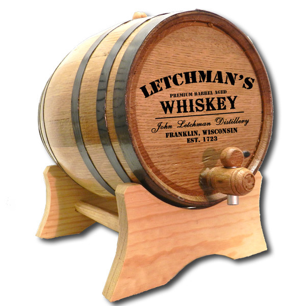 Cremation Urn made from Oak Whiskey Barrel