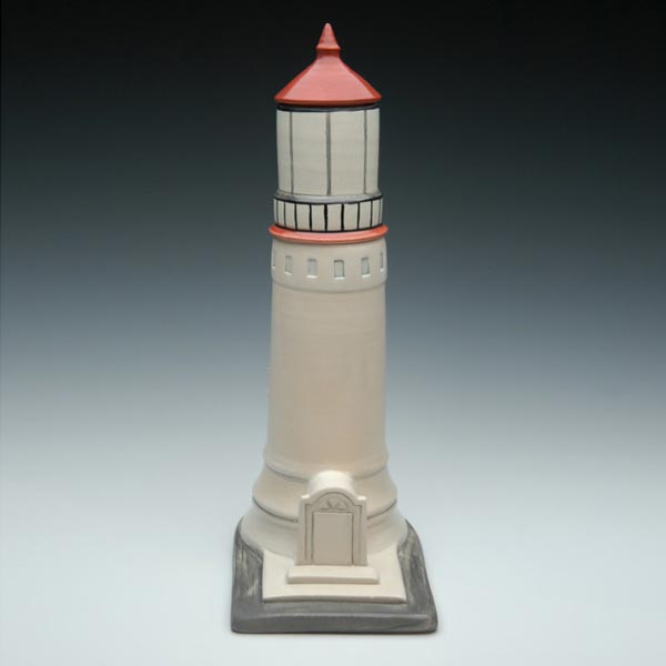 Handmade Ceramic Lighthouse Cremation Urn