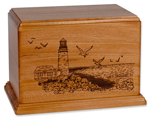 Wooden Lighthouse Cremation Urns