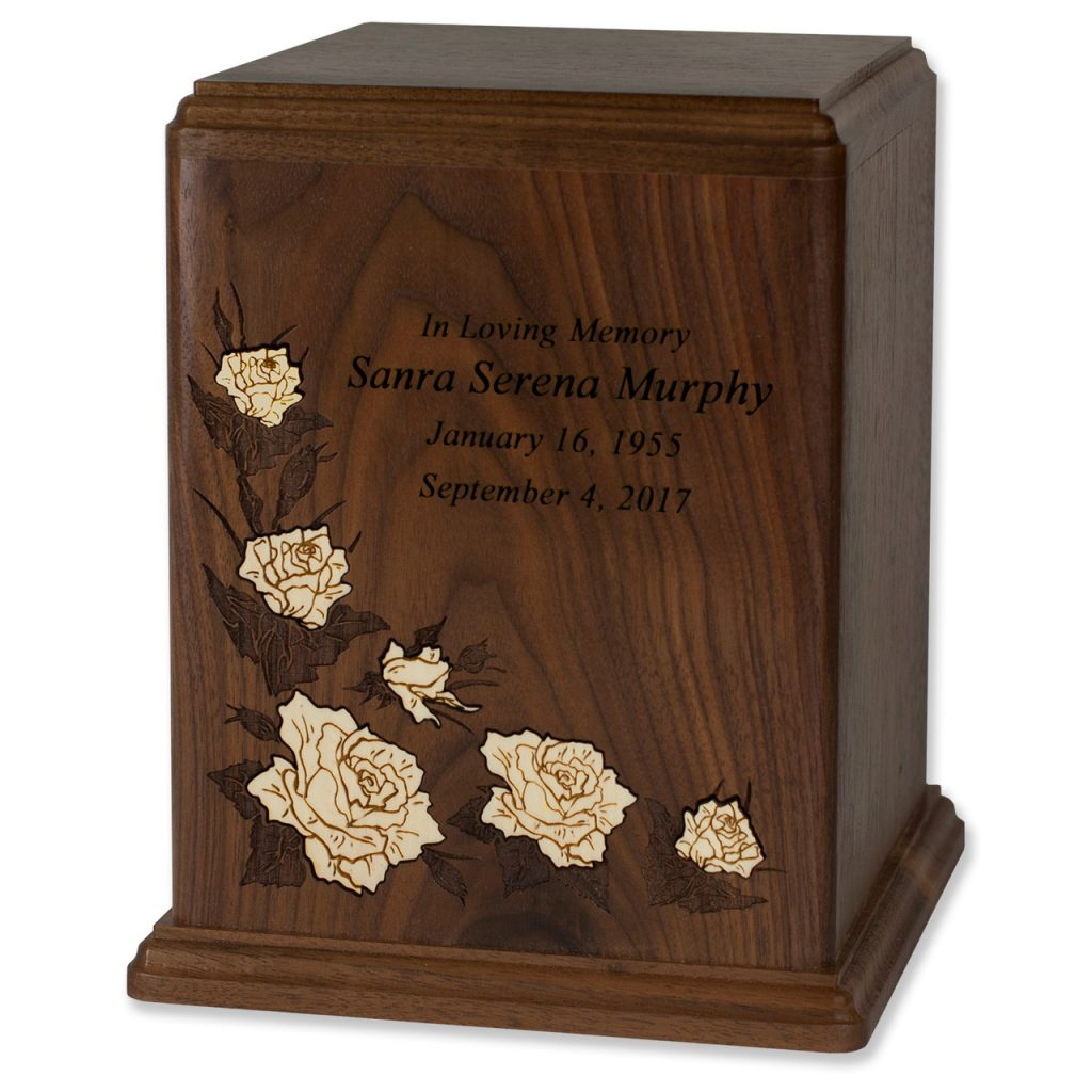 Inlay Art Floral Cremation Urns
