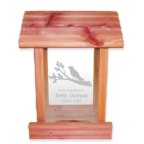 Sympathy Gift Ideas: Personalized Bird Feeder