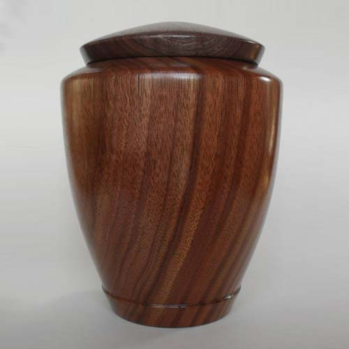 Rustic Hand Turned Wood Urn