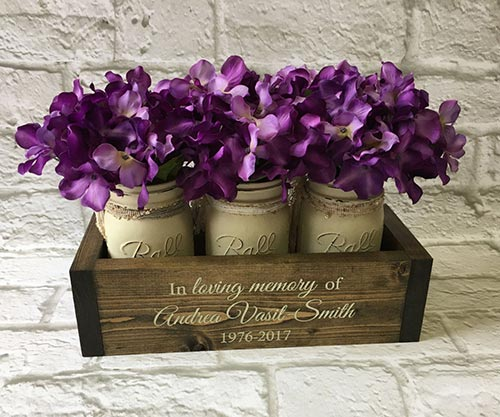 MEMORIAL FLOWER PLANTER GIFT BOX. Bereavement Gift Idea