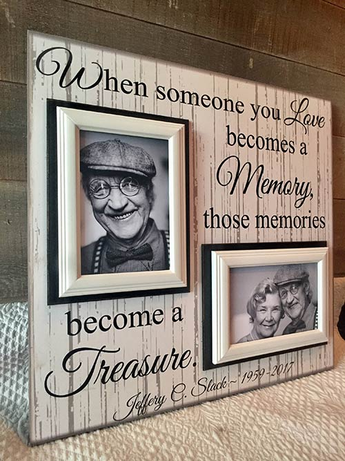 Distressed Wood Photo Frame Sympathy Gift