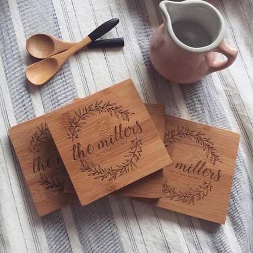 Custom Engraved Coaster Set Sympathy Gift