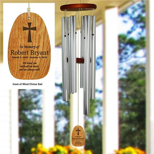 Sympathy Gift Idea: Wind Chimes Personalized with In Loving Memory