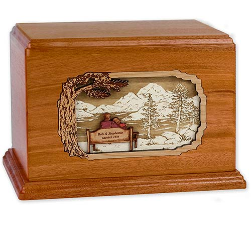 Rustic Wooden Companion Urns
