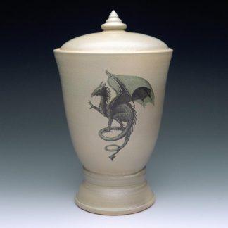 Dragon Cremation Urns - Ceramic Pottery Urn wit Dragon