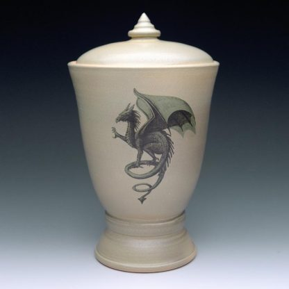 Dragon Cremation Urns - Ceramic Pottery Urn wit Dragon
