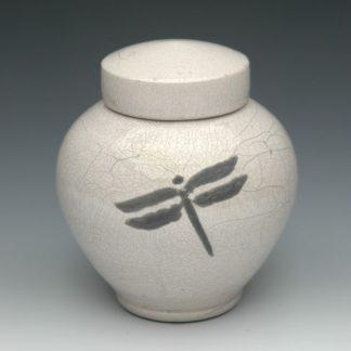 Dragonfly Raku Ceramic Cremation Urn for Ashes