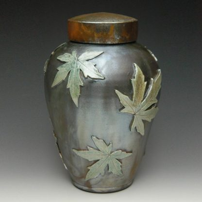 Raku Ceramic Cremation Urn - Handcrafted