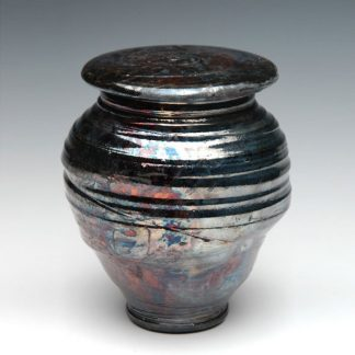 Ceramic Raku Cremation Urn - Made in the USA