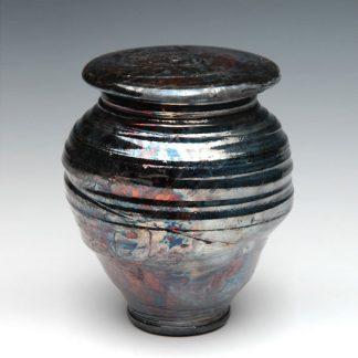 Ceramic Raku Cremation Urn - Made in the USA