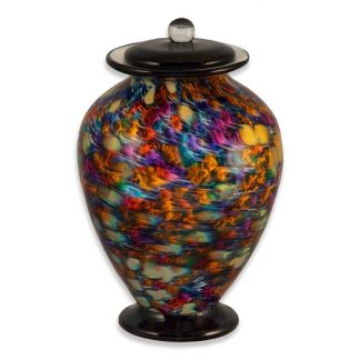 "Hand-blown Glass Cremation Urn, ""Desert"" theme"