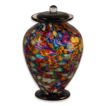 """Hand-blown Glass Cremation Urn, """"Desert"""" theme"""