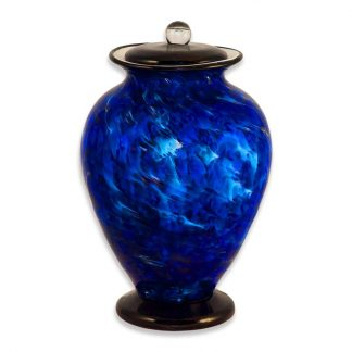Stunning hand blown Glass Urn for your loved one