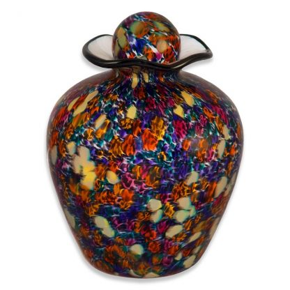 Beautiful glass funeral urns made in the USA