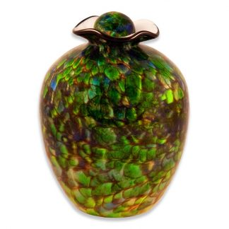 "Stunning hand blown Glass Urn ""Bella"""