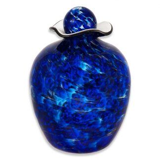 Cremation urn made from glass