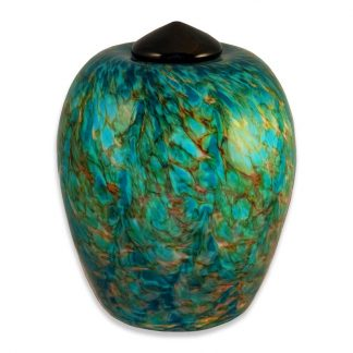 Glass art cremation urns